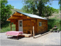 Eagles Nest Large Log Cabin at Eagle RV Park and Campground Thermopolis Wyoming