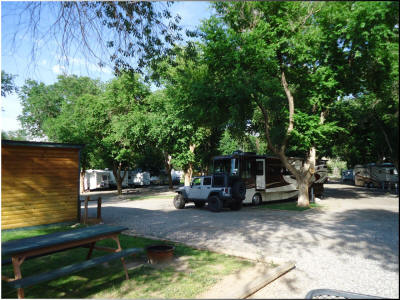 Large RV Pull Thru sites at Eagle RV Park and Campground in Thermopolis Wyoming